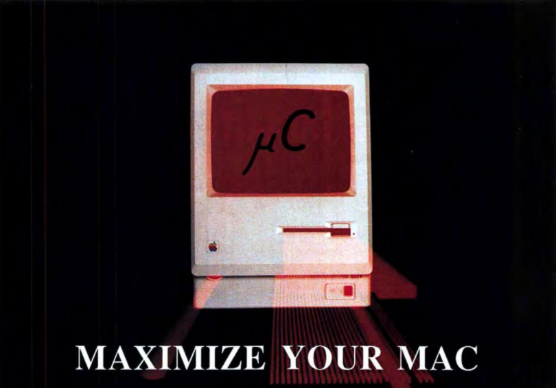 "A cyber-styled photo of a Macintosh computer with text that reads ""MAXIMIZE YOUR MAC"""