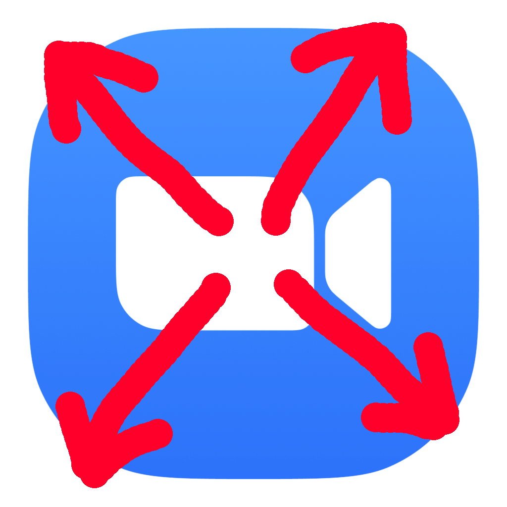 The logo for Zoom Escaper, the Zoom logo overlaid with arrows running away!