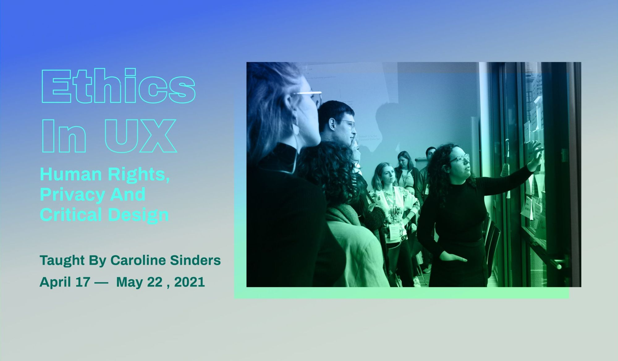 Promotional graphic for Ethics in UX.