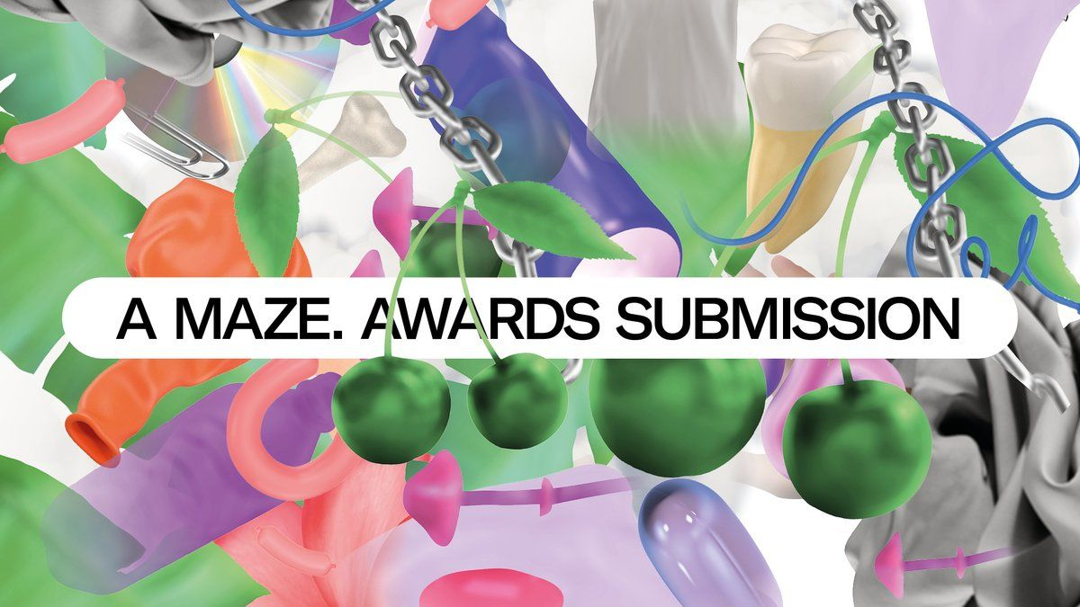 Lots of bright blobby shapes in promotion of the A MAZE. awards.