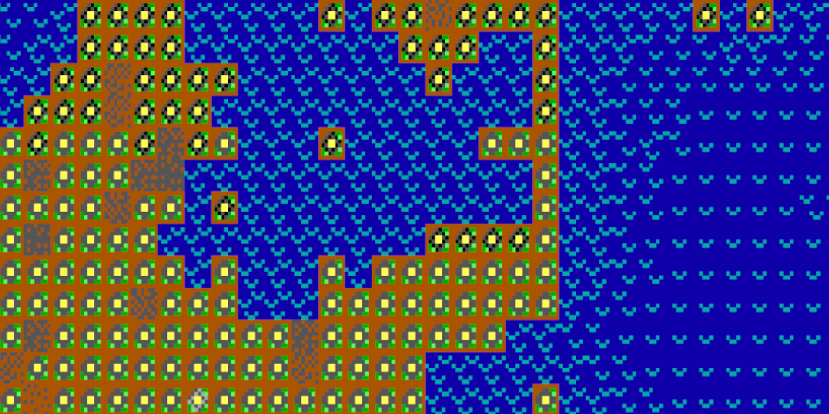 A screenshot from the game SimEarth of a lifeform reproducing into excess.