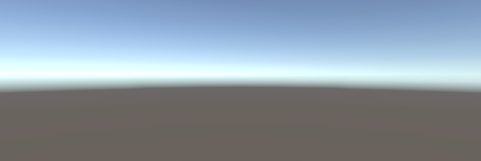 A screenshot of the default project output for Unity.